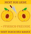 Cover: Pfirsich-Freunde: Nicht nur Liebe geht durch den Magen