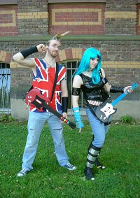 Cosplay-Cover: Johnny Napalm aus Guitar Hero