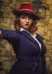 Cosplay-Cover: Peggy Carter (Blue Suit)
