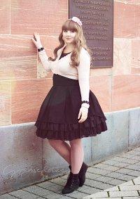 Cosplay-Cover: Lady Sloth High-Waist-Skirt black