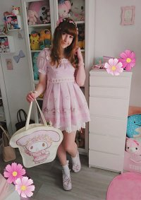 Cosplay-Cover: ✿LL x My Melody Piano♬Pattern♫ Dress❣