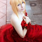 Cosplay: Christa Lenz [Red Gown]