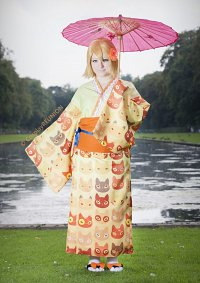 Cosplay-Cover: Kagamine Rin (鏡音リン) [Project DIVA - Kitty Kimono]
