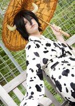 Cosplay-Cover: Lambo Bovino (15 years old Kimono)
