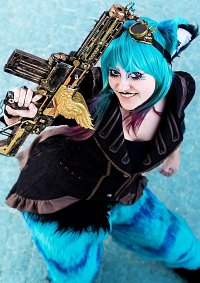 Cosplay-Cover: Grinsekatze Steampunk
