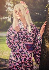 Cosplay-Cover: Black Heart [Kimono Fanart] ♪