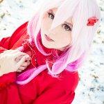 Cosplay: Inori Yuzuriha [Red Flower Dress]
