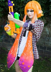 Cosplay-Cover: Orange Inkling (Splatoon)