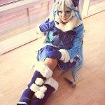 Cosplay: Snow Miku [Fluffy Coat Ver.]