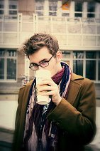 Cosplay-Cover: Hips!Ten (Hipster! Tenth Doctor - Blue Suit)
