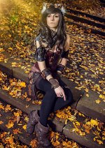 Cosplay-Cover: Steampunk Katze