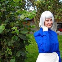 Cosplay-Cover: Sophie Hatter (blaues Kleid)
