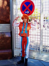 Cosplay-Cover: Dusty Crophopper aus Planes (Human-Version)