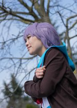 Cosplay-Cover: Yuki Nagato (Schuluniform)