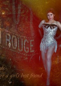 Cosplay-Cover: Satine Black Diamonds (Moulin Rouge)