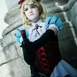 Cosplay: Kagamine Rin [Aka to Shiro no Kuro no Keifu]
