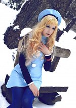 Cosplay-Cover: Sheryl Nome ~ Blue Winterdress