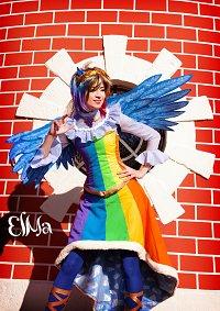 Cosplay-Cover: Rainbow Dash Gala Kleid