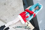 Cosplay-Cover: Miku Hatsune (weihnachtsversion)