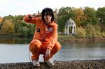 Cosplay-Cover: Lambo Bovino Orange Overall Müllmann