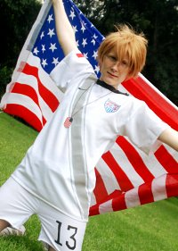 Cosplay-Cover: America / USA Alfred F. Jones - Fußballtrikot