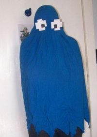 Cosplay-Cover: Blauer Pac-Man Ghost aus Pac-Man xD
