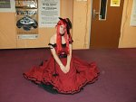 Cosplay-Cover: Grell Sutcliff im red Ballkleid