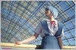 Cosplay-Cover: Rei Ayanami - Schuluniform