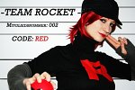 "Cosplay-Cover: Team Rocket Göre ""Red"""