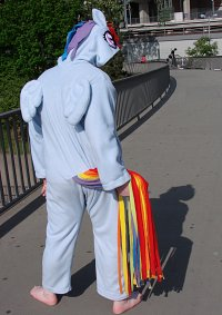 Cosplay-Cover: Rainbow Dash (Kigurumi)
