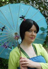 Cosplay-Cover: Fa Mulan- grüner Hanfu