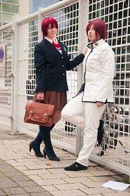 Cosplay-Cover: Rin Matsuoka (Samezuka Schooluniform)