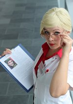Cosplay-Cover: Dr. Harleen Quinzel