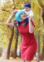 Cosplay-Cover: Bulma with Babytrunks (Movie 8)