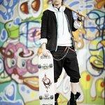 Cosplay: Yata Misaki (black suit)