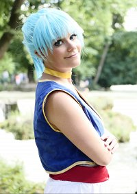 Cosplay-Cover: Bulma Briefs (Wüstenoutfit)