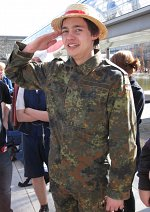Cosplay-Cover: Ruffy in Bundeswehr-uniform