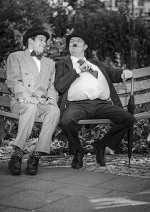 Cosplay-Cover: Oliver Hardy (Laurel & Hardy bzw. Dick & Doof)