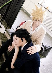 Cosplay-Cover: Cloud Strife [School FanArt]