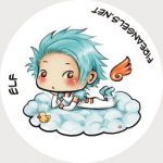 Button: Elf Angel