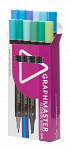 Graphmaster: 12er-Set Dual-Tip-Marker D 'Blue/Green'