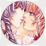 Button: Kiss from a rose