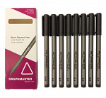 Graphmaster: 8er-Set Pigment-Liner Black