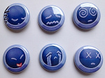Animexx Button: Komplettset - Smiley-Edition D